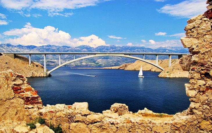 Most za otok Pag
