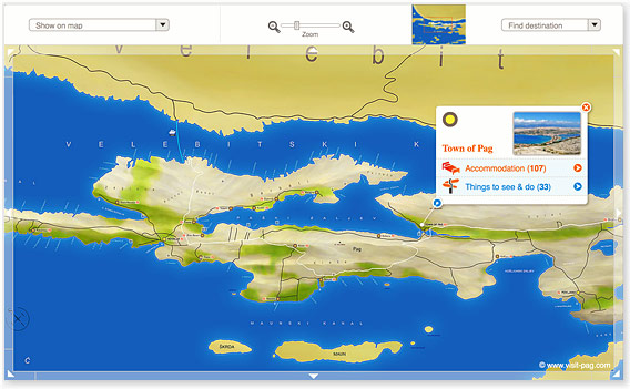 Map of Island Pag